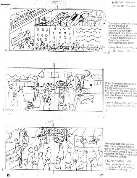 Enlarged storyboard