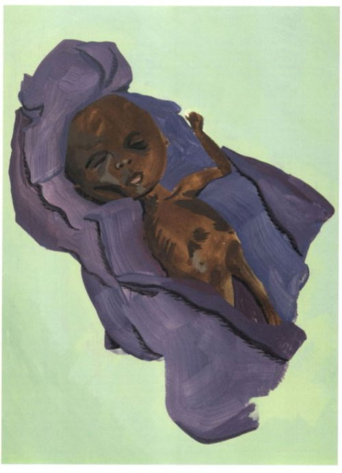 Toussaint L'Ouverture as a tiny baby at birth. . . .