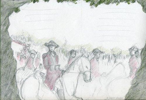 Sketch for ambush scene