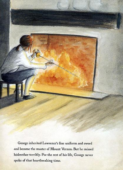 Final art for fireplace scene