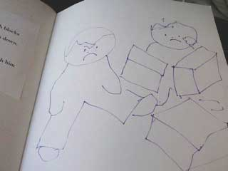 "A book dummy sketch from ""My Preschool"""