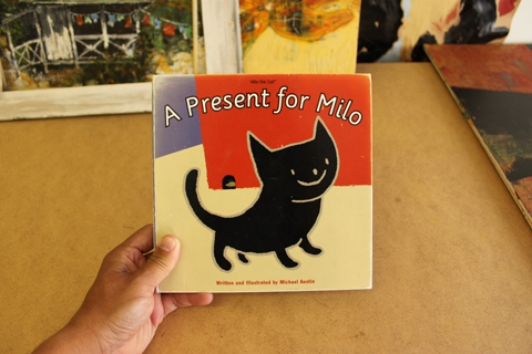 "Cover from the 1995 book dummy for ""Milo"""