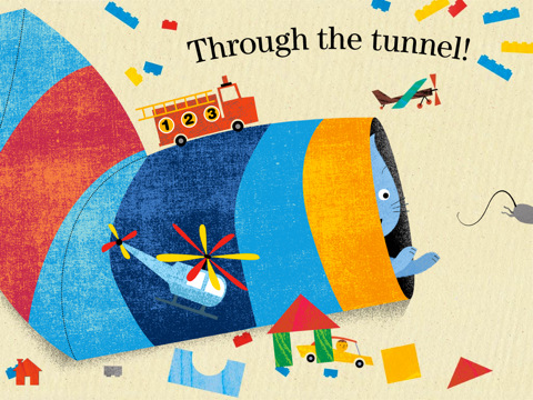 Current iPad version of tunnel scene
