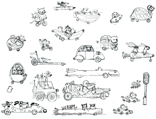 Character studies for Mini Racer