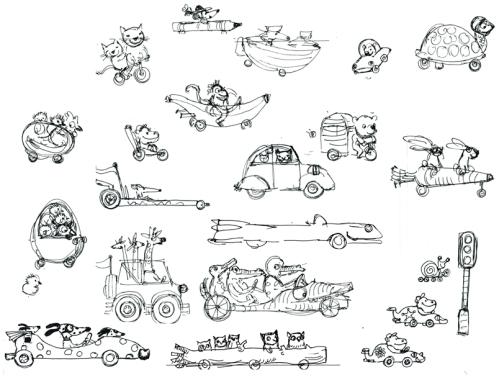 Character studies for Mini Racer