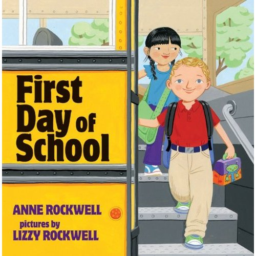 "Jacket art, with type for ""First Day of School"""
