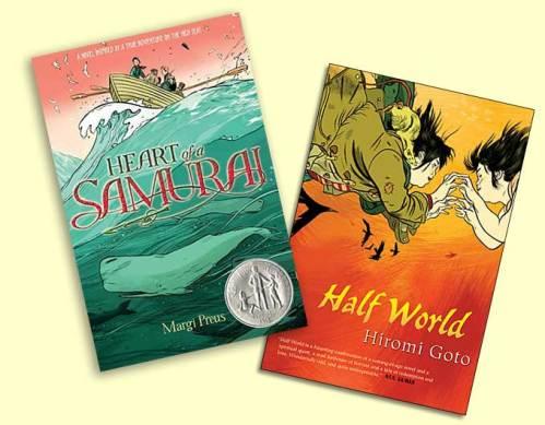 'Heart of a Samarai' and 'Half-World' covers