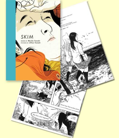 "cover and samples from ""Skim"""