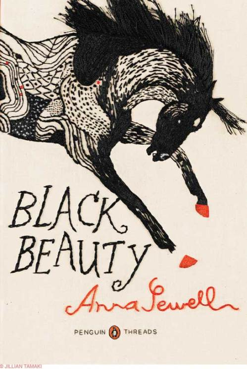 """Black Beauty,"" cover illustration by Jillian Tamaki"