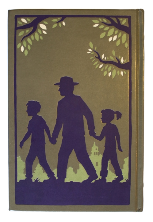 "back cover illustration from ""To Kill a Mockingbird"""