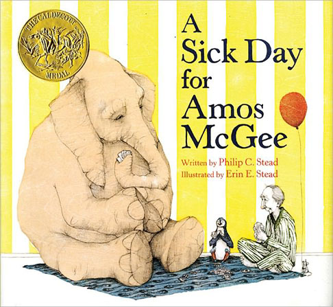 "cover from ""A Sick Day for Amos McGee"""