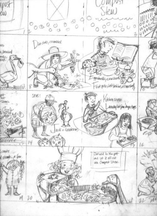 """storyboard from """"Compost Stew"""""""
