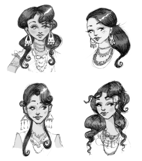 character studies for Dolly Singh