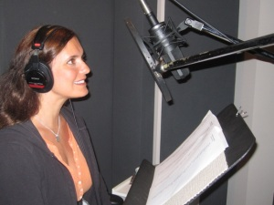 Karen Kripalani in the voice-over booth