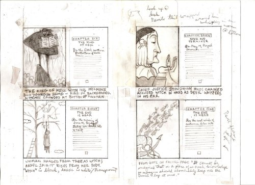 Preliminary thumbnail sketches for WITCHES!