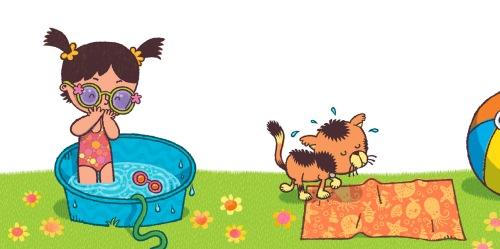 "from ""Brownie & Pearl Take a Dip"" illustrated by Brian Biggs, written by Cynthia Rylant"