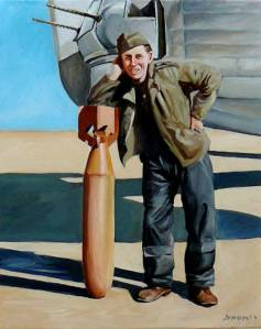 Sgt Max McClure, tail gunner and bomb loader