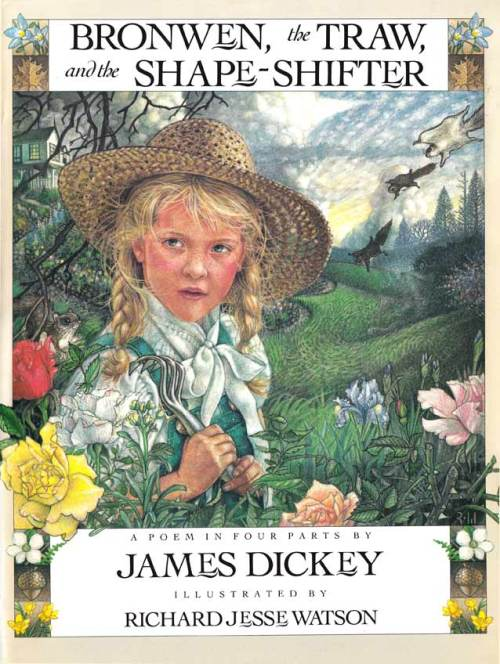 "cover from ""Bronwen, the Traw, and the Shapeshifter,"" written by James Dickey"