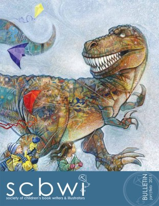 dinosaur illustration for SCBWI National Newsletter