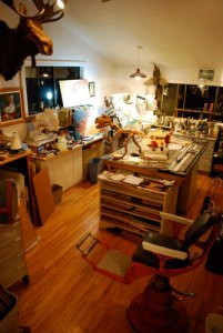 Richard Jesse Watson's studio