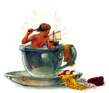 Tom Thumb's teacup tub