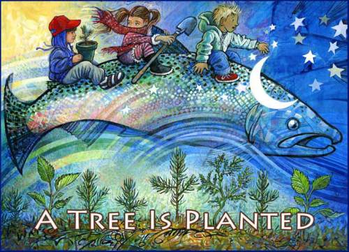 This art was created for the restoration of wildlife habitat, and the creative education of children.