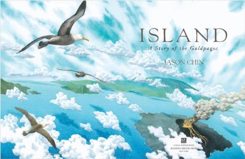 """title page spread from """"Island"""""""