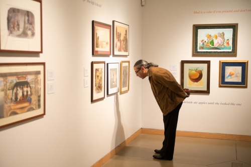 David Diaz checking out the artistry on display at The Original Art